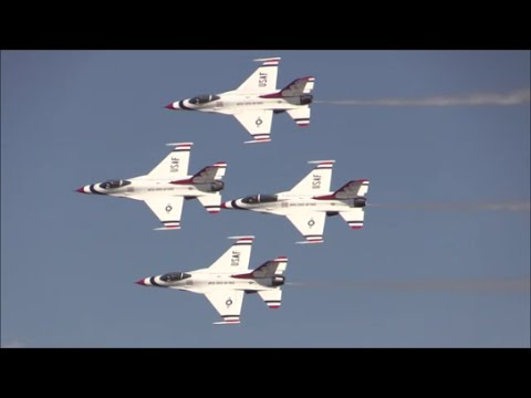 2015 Joint Base Andrews Airshow - USAF Thunderbirds (Aerial Performance)