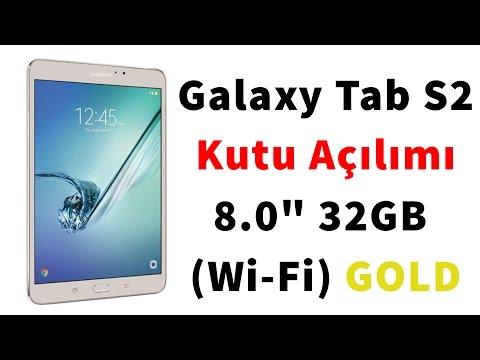 """Samsung Galaxy Tab S2 8"""" SM-T713 Gold Kutu Alm"""