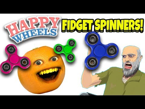 Annoying Orange Plays - Happy Wheels: FIDGET SPINNERS LEVELS!