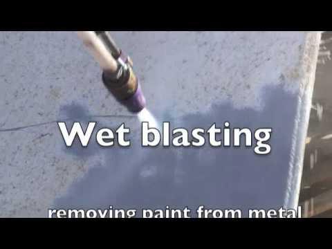 hydroblast yorkshire wet blasting paint stripping  YouTube