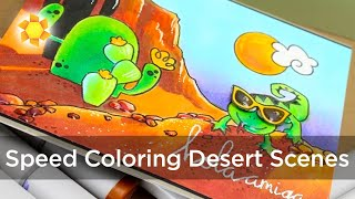 Magical Monday: Coloring Desert Scenes, Paper Smooches