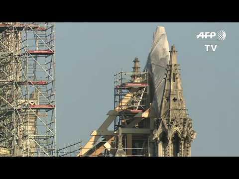 Notre-Dame : suite des travaux de consolidation après l'incendie | AFP Images
