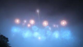 2020 the 絶景花火 プロローグ編 「絶景富士~Hokusai Blue~」紅屋青木煙火店