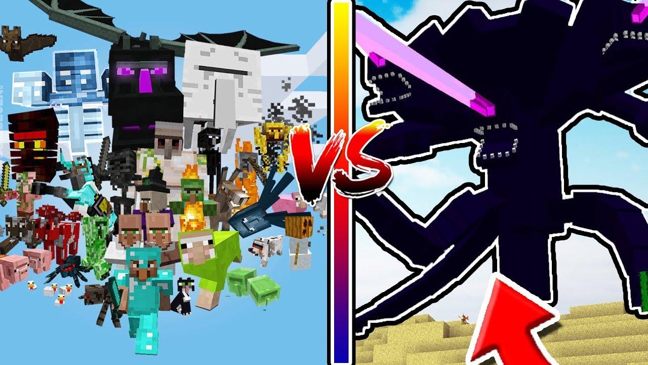 จะเกิดอะไรขึ้น!? ถ้ามอนสเตอร์ทั้งหมดในมายคราฟ!? สู้กับ วิทเทอร์ สตรอม จอมทำลายล้าง!?   Minecraft Mod