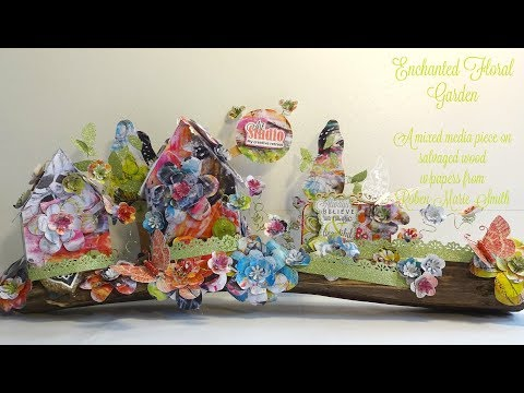 Enchanted Floral Garden mixed media