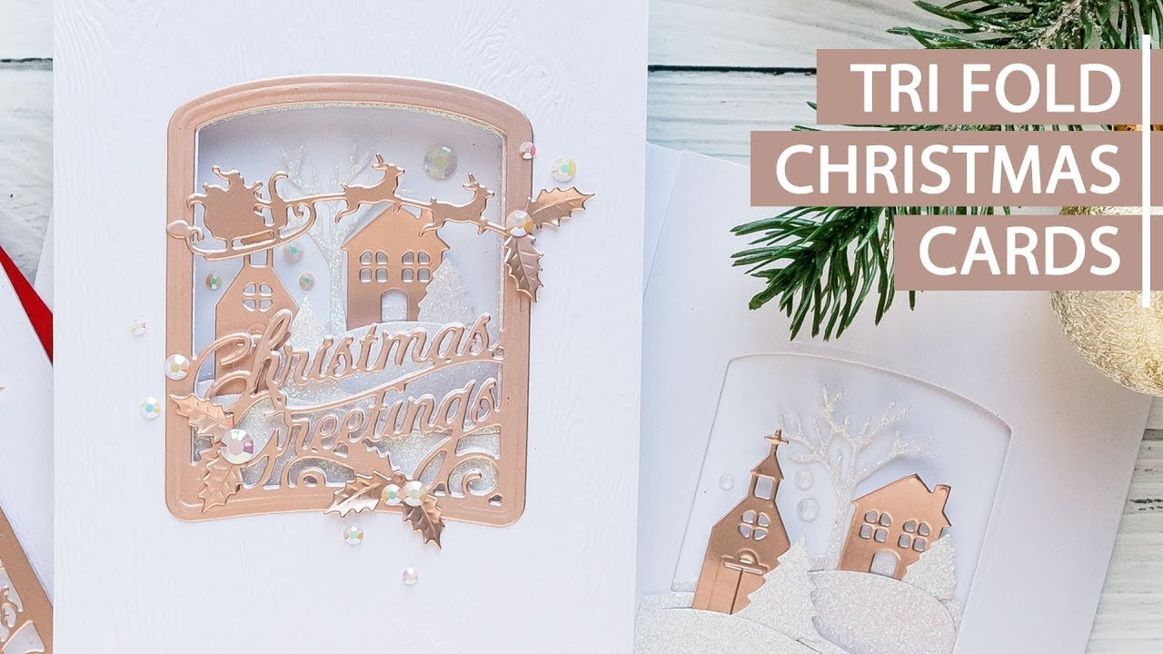 Trifold Christmas Cards - YouTube