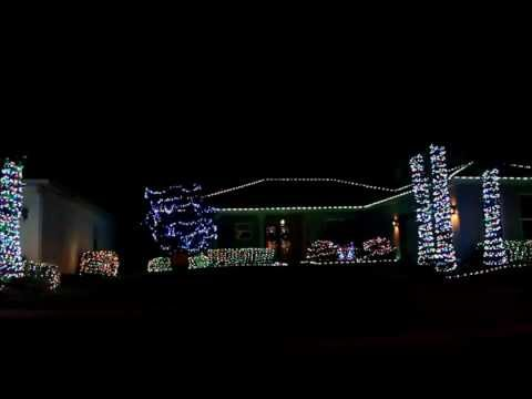 2012 religious christmas lights lights set to music beautiful american flag in solivita fl