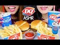 ASMR DAIRY QUEEN (OREO BLIZZARD, BURGERS, FRIES) 치즈버거 리얼사운드 먹방 | Kim&Liz ASMR