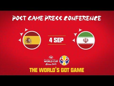 Spain v Iran - Press Conference - FIBA Basketball World Cup