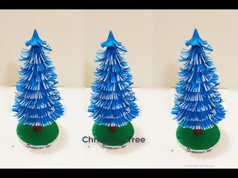 3D Paper Christmas Tree | How To Make Paper Xmas Tree |DIY Christmas Crafts.