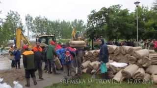 Sremska Mitrovica - Odbrana nasipa na reci Savi 17.05.2014 u 13:00h