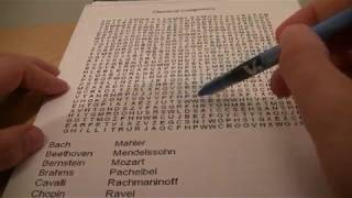 Classical Composer Word Search