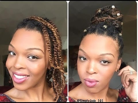 Mini Twist Bun For Fine Hair Short Hair And Transitioners Youtube