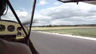 Taxying in a J3 Cub at Bergerac Airport (2)