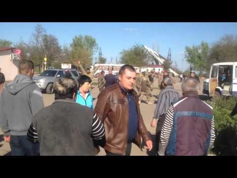 'Азов' VS жители Лиманского