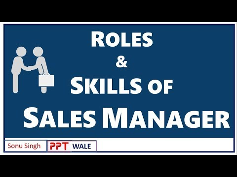 Roles of sales manager in a business