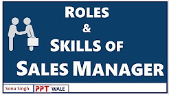 ROLES AND SKILLS OF A SALES MANAGER | Sales Management (SM) | BBA/MBA | Marketing topic | ppt