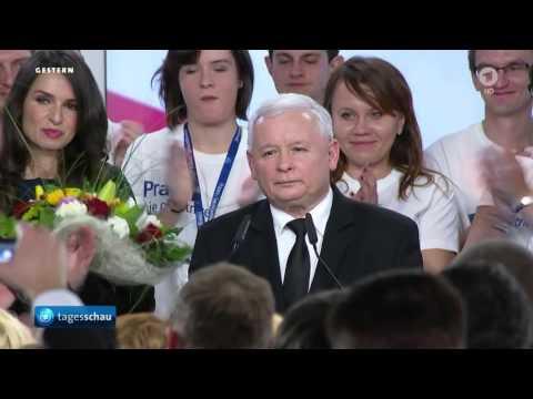"""Kaczyński-Partei """"Recht und Gerechtigkeit"""" (PiS) gewinnt Parlamentswahl in Polen"""