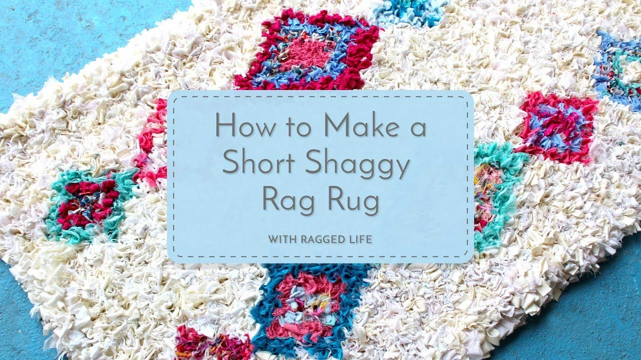Easy Diy Short Shaggy Rag Rug
