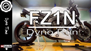 FZ1 Dyno Run - How much horse power can it make.