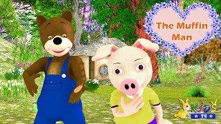 The Muffin Man |+ More Nursery Rhymes & Baby Songs | Nursery Rhymes From Rabbit KidsTV