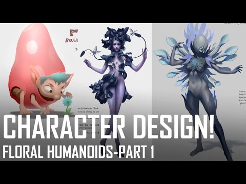 Critique Hour! Character Design! Floral Humanoids-Part 1!