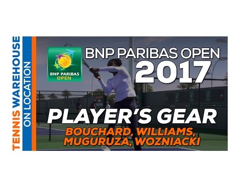 Bouchard, Williams, Muguruza, Wozniacki 2017 BNP Paribas Open Practice