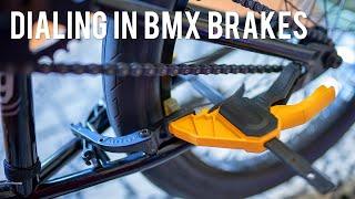 DIALING IN BMX BRAKES!