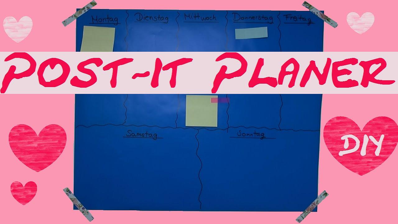 diy planner pinwand selber machen post its kalender f r die wand tutorial youtube. Black Bedroom Furniture Sets. Home Design Ideas