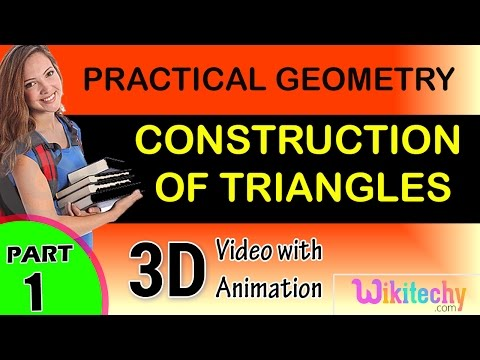 Construction of Triangle maths class 5 6 7 8 9 10 trick shortcuts online videos cbse puzzles