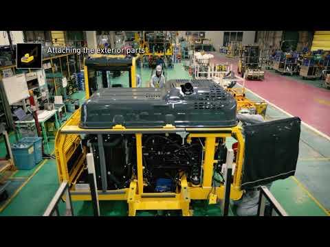 Komatsu way of manufacturing at the Japanese plant