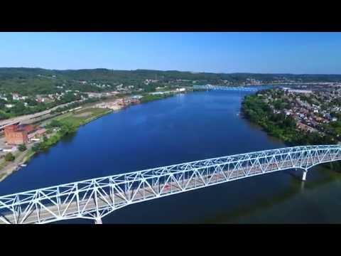 DJI PHANTOM 3 Pro - OHIO RIVER/BEAVER RIVER - Monaca, PA - Beaver County