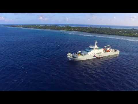 Laying of Ooredoo Maldives submarine cable.
