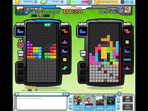 Tetris Battle - Samuel Vs Angelo Tecson 2 Games [bomb Off Handicap On]