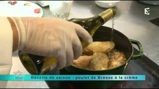 Recette de saison : Poulet de Bresse à la crème