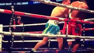 Бокс Геннадий Головкин – Келл Брук / Golovkin GGG vs Brook Boxing fight technical knockout