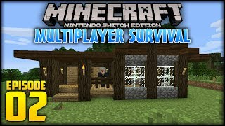 Minecraft: Switch Edition Multiplayer Survival - (w/moomoomage) - Episode 2 (Part 1) - House!