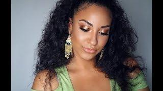 Simple Bronze Summer Glow Makeup