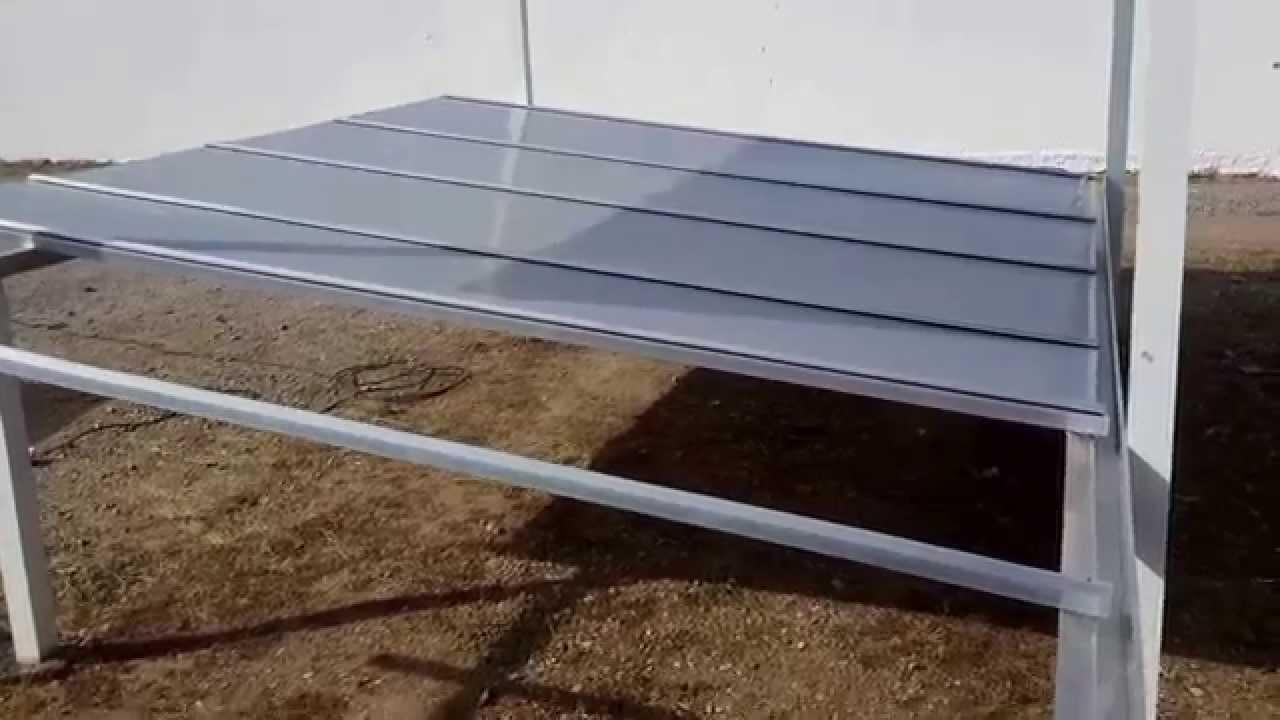 Cobertura de policarbonato com perfil de aluminio e chapa - Perfiles de chapa ...