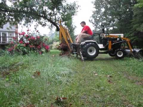 Bolens Ht23 With Rebuilt Brantly Backhoe Operating Youtube