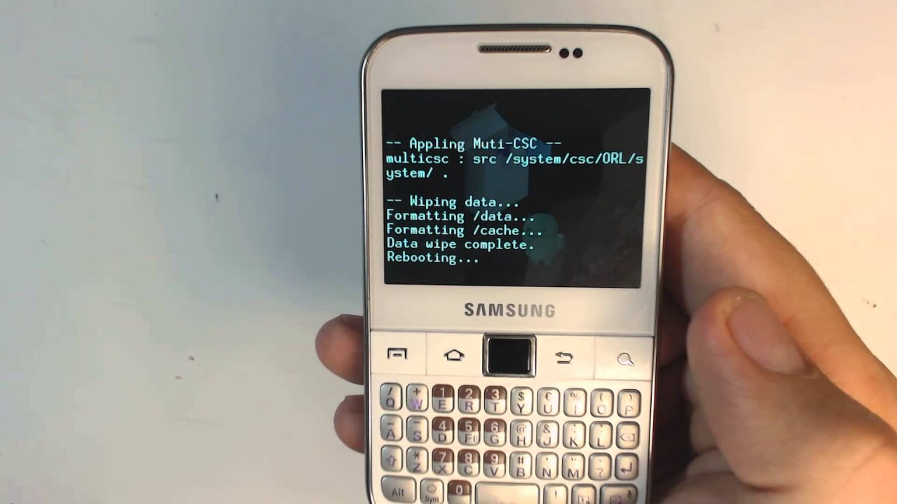 samsung galaxy y pro b5510 how to reset como restablecer datos rh youtube com Samsung Phone Keyboard Samsung Galaxy Pro Specifications
