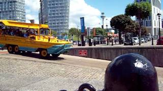 liverpool amphibians car/boat going into water