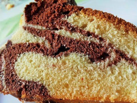 Eggless Marble Cake in Pressure Cooker   Swirled Marble Tea Time Cake   MadhurasRecipe