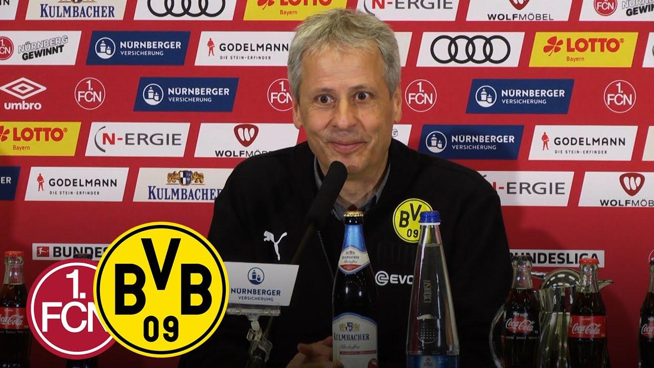 Nullnummer in Nürnberg | PK mit Lucien Favre | 1. FC Nürnberg - Borussia Dortmund