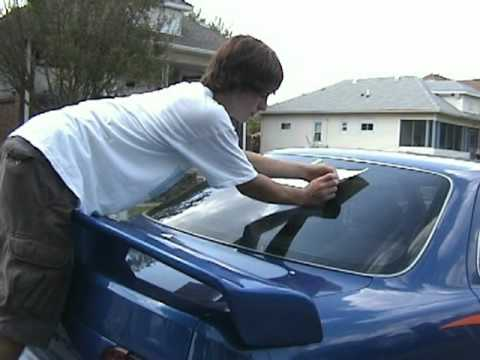 How to apply a vinyl decal to your car with scottie manners