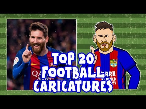 ✏️TOP 20 FOOTBALL CARICATURES - 16/17✏️ (Feat Ronaldo, Messi, Neymar And More!)