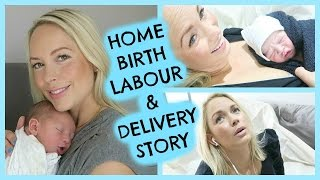 LIVE NATURAL BIRTH 3 HOUR HOME BIRTH / EMILY NORRIS LABOR & DELIVERY