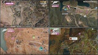 All Forza Horizon Games - World Map Comparison