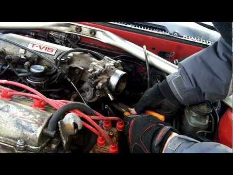 Camshaft Position Sensor >> Throttle Body Removal - 1989 Toyota Celica GTS - 3S-GE ...