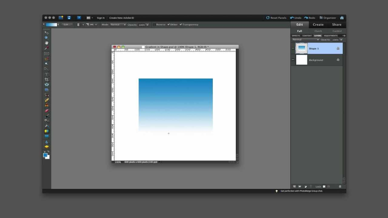 Draw shapes with the shape tools in Photoshop